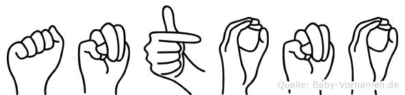 Antono in Fingersprache für Gehörlose