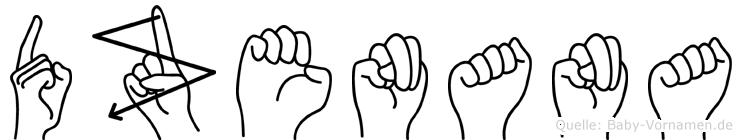 Dzenana in Fingersprache für Gehörlose