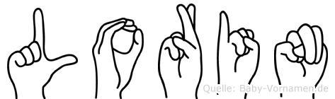 Lorin im Fingeralphabet der Deutschen Gebärdensprache