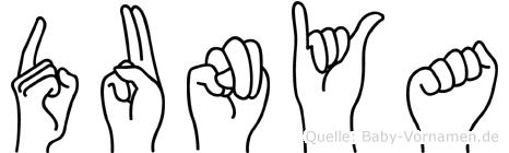 Dunya in Fingersprache für Gehörlose