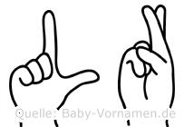 Lür im Fingeralphabet der Deutschen Gebärdensprache