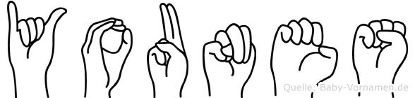 Younes im Fingeralphabet der Deutschen Gebärdensprache