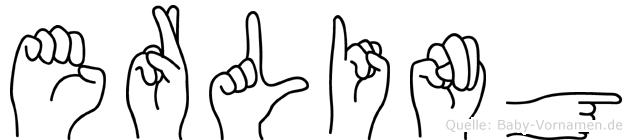 Erling im Fingeralphabet der Deutschen Gebärdensprache