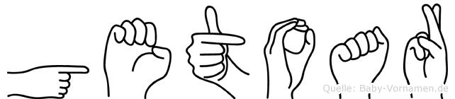 Getoar in Fingersprache für Gehörlose