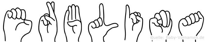 Erblina in Fingersprache für Gehörlose