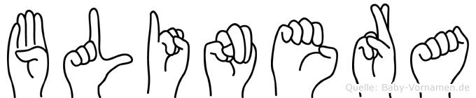 Blinera in Fingersprache für Gehörlose