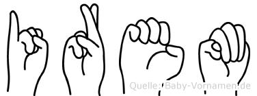Irem im Fingeralphabet der Deutschen Gebärdensprache