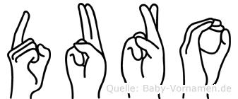 Duro im Fingeralphabet der Deutschen Gebärdensprache