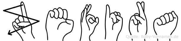 Zefira in Fingersprache für Gehörlose