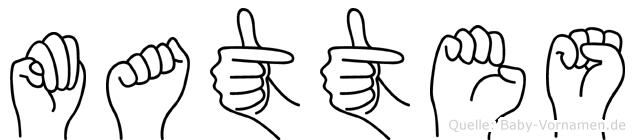 Mattes im Fingeralphabet der Deutschen Gebärdensprache