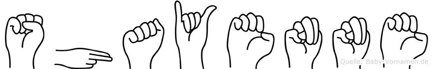 Shayenne in Fingersprache für Gehörlose