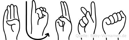 Bjuka in Fingersprache für Gehörlose