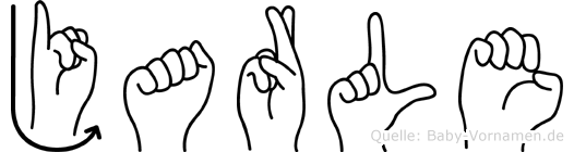 Jarle im Fingeralphabet der Deutschen Gebärdensprache