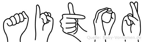 Aitor in Fingersprache für Gehörlose