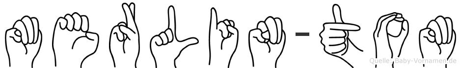 Merlin-Tom im Fingeralphabet der Deutschen Gebärdensprache