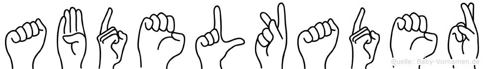 Abdelkader in Fingersprache für Gehörlose