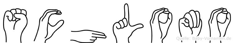 Schlomo im Fingeralphabet der Deutschen Gebärdensprache