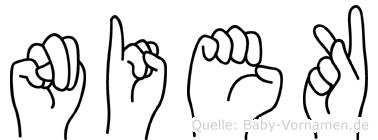 Niek in Fingersprache für Gehörlose