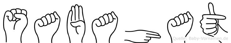 Sabahat im Fingeralphabet der Deutschen Gebärdensprache