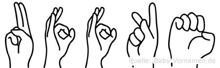 Uffke in Fingersprache für Gehörlose