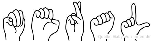 Meral im Fingeralphabet der Deutschen Gebärdensprache