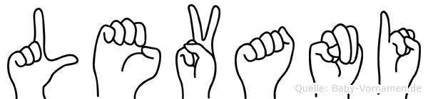 Levani in Fingersprache für Gehörlose