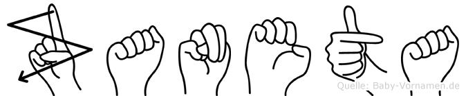 Zaneta im Fingeralphabet der Deutschen Gebärdensprache