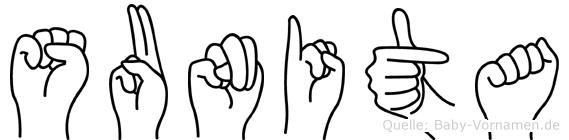 Sunita in Fingersprache für Gehörlose