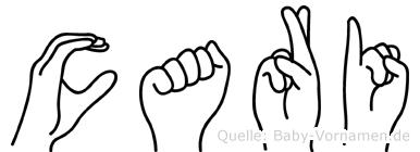 Cari in Fingersprache für Gehörlose