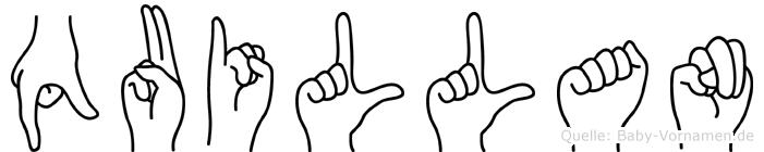 Quillan in Fingersprache für Gehörlose