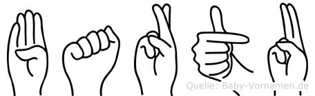Bartu im Fingeralphabet der Deutschen Gebärdensprache
