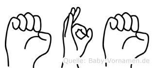 Efe im Fingeralphabet der Deutschen Gebärdensprache