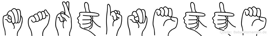 Martinette in Fingersprache für Gehörlose