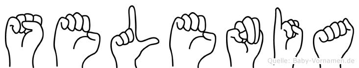 Selenia im Fingeralphabet der Deutschen Gebärdensprache