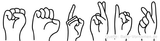 Sedrik im Fingeralphabet der Deutschen Gebärdensprache