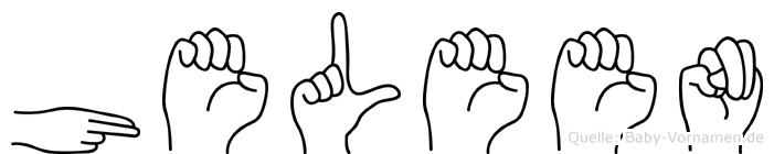Heleen in Fingersprache für Gehörlose