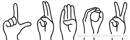 Lubov in Fingersprache für Gehörlose