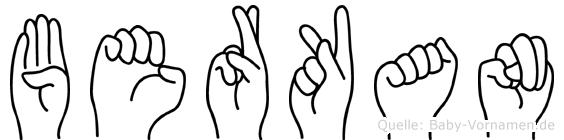Berkan im Fingeralphabet der Deutschen Gebärdensprache