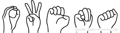 Owena im Fingeralphabet der Deutschen Gebärdensprache
