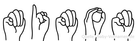 Mimon in Fingersprache für Gehörlose