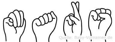 Mars in Fingersprache für Gehörlose