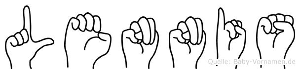 Lennis im Fingeralphabet der Deutschen Gebärdensprache