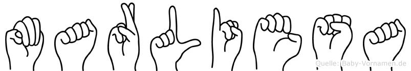 Marliesa in Fingersprache für Gehörlose