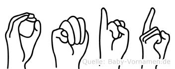 Omid im Fingeralphabet der Deutschen Gebärdensprache