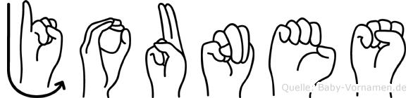 Jounes in Fingersprache für Gehörlose