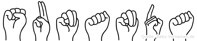 Sunanda in Fingersprache für Gehörlose