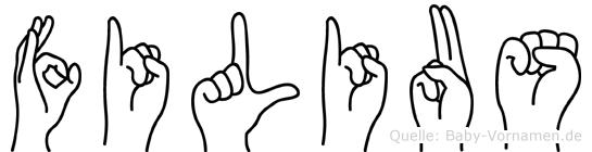 Filius in Fingersprache für Gehörlose