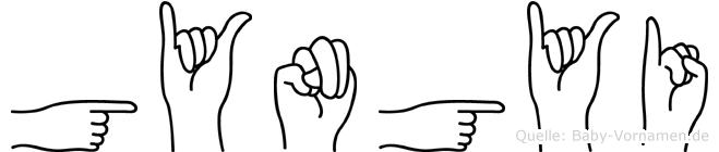 Gyöngyi in Fingersprache für Gehörlose