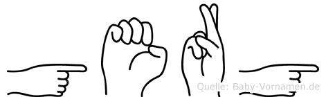 Gergö im Fingeralphabet der Deutschen Gebärdensprache