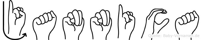 Jannica im Fingeralphabet der Deutschen Gebärdensprache